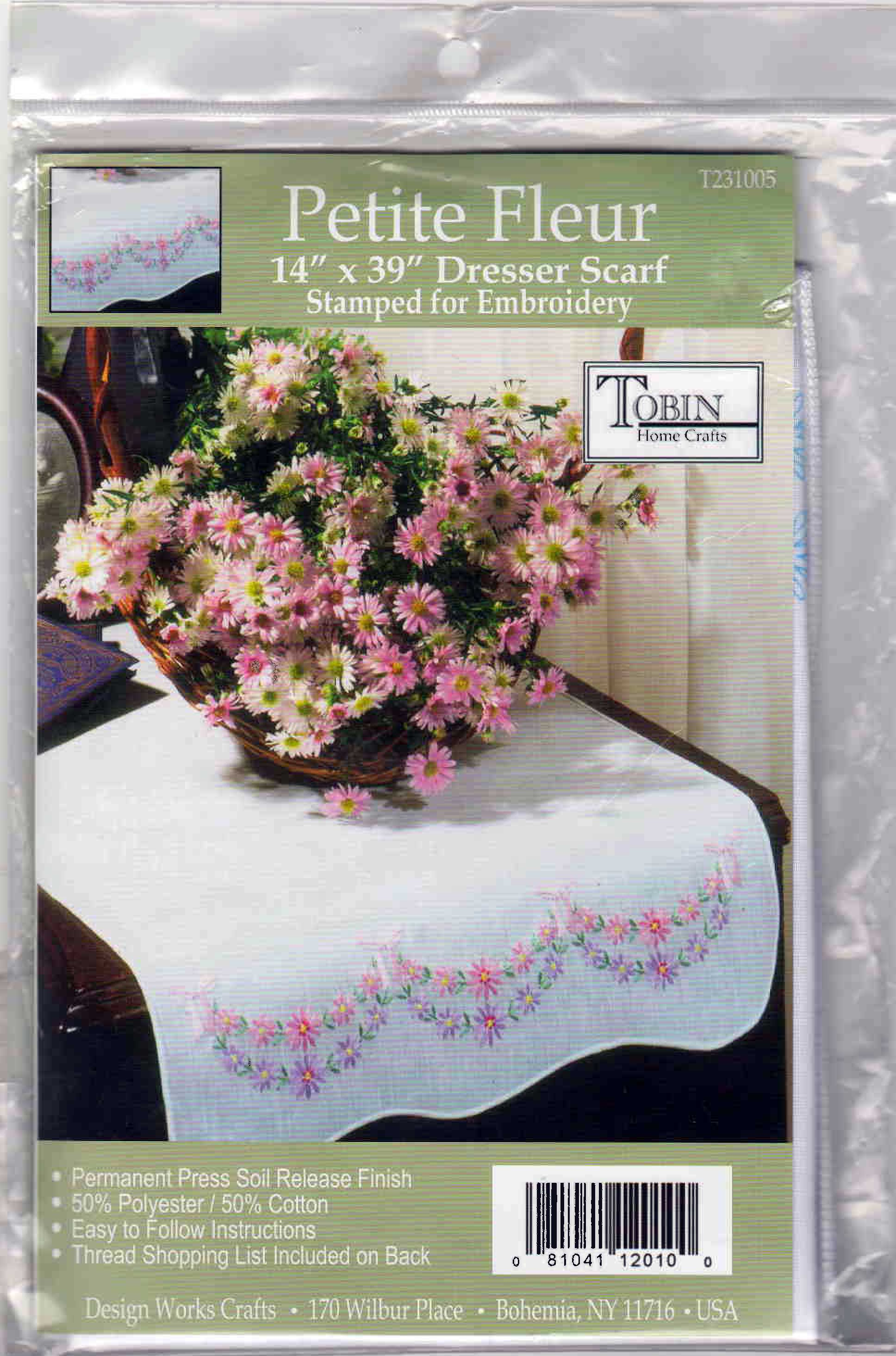 Broderie Conventionnelle chemin de table